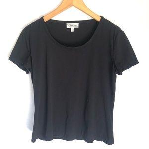 St. John Sport Black Short Sleeves Tee Top S